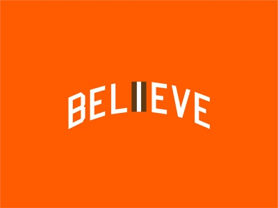 Believe nfl letters jersey believe type sports cleveland browns ohio cleveland typogaphy