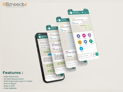 Chat App Like a WhatsApp Clone Design & Development - eBizneeds app designers australia app developers app developer android app development app designer app designers android app design