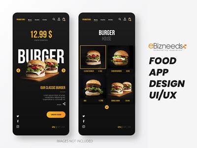 Online Food Delivery App UI/UX Design - eBizneeds design app developers app designers australia app developer android app development app designer app designers android app design logo graphic design branding ui
