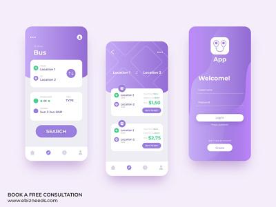 Transportation Tracking App UI/UX Design - eBizneeds illustration design app developers app developer app designers australia android app development app designers app designer android app design