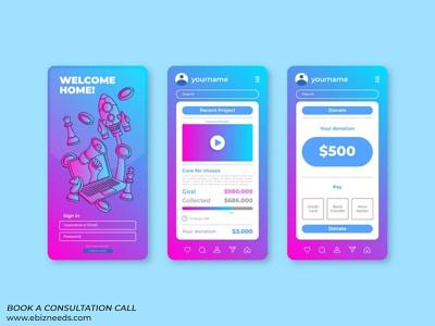 Home Expenses Management Mobile App UI/UX Design - eBizneeds app developers app developer app designers australia android app development app designers app designer android app design