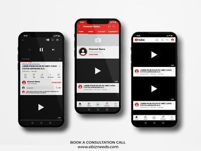 Video Sharing App UI/UX Design Like as YouTube - eBizneeds design app developers app developer app designers australia android app development app designers app designer android app design