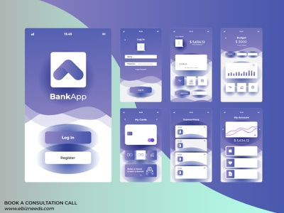 Online Banking and Payment Getaway App UI/UX Design - eBizneeds design app developers app developer app designers australia android app development app designers app designer android app design