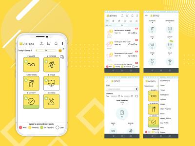 Aimeo - Health Tracking App ios app design ios app development android app development android app design app development app developers app development company in usa app designers app designer app developer app developers australia app development company app design app designers australia app ui