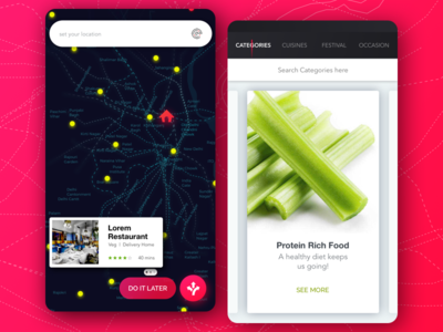Foodie - A concept app design for the foodies