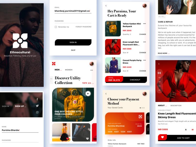 Let's make shopping fun! webdesign type mobileapp designinspiration design typography flat ux ui concept app shop