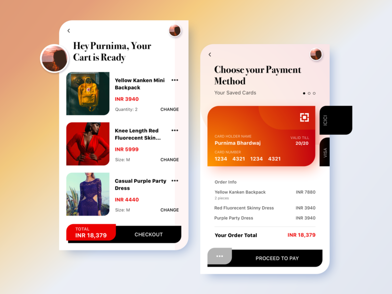Let's make shopping fun vector ui flat type typography illustration user experience conceptual user interface app design design sketch concept app