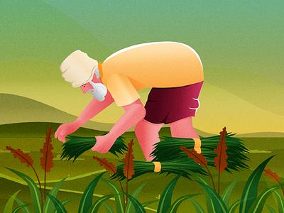 Farmer flat design vector illustration