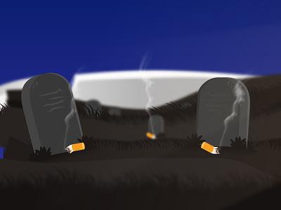 No Tobacco Day minimal flat vector illustration design