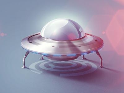 UFO icon design web photoshop