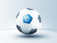 Elegant CSS3 Soccer Ball