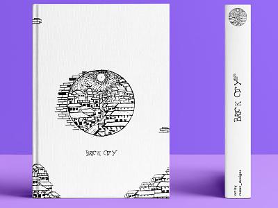 Brick City sketched illustration illustrator doodleart book cover design