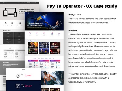 Pay TV Operator - UX Case study
