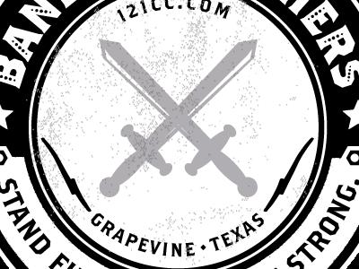 Band Of Brothers Circle Crest circle logo crest mens retreat grunge logo