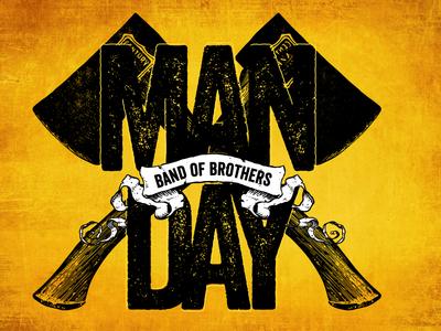 121 Community Church Men's Event axe masculine mens retreat branding logo