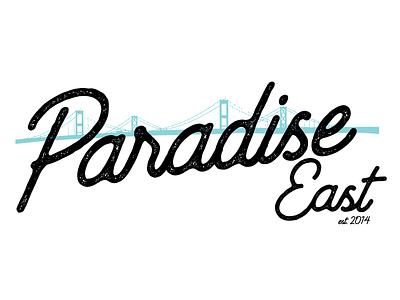 Paradise East Logo branding grunge logo