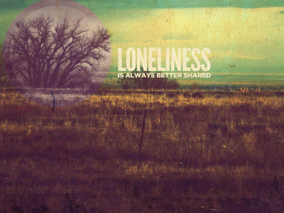 Loneliness CD Cover cd cover print experiment