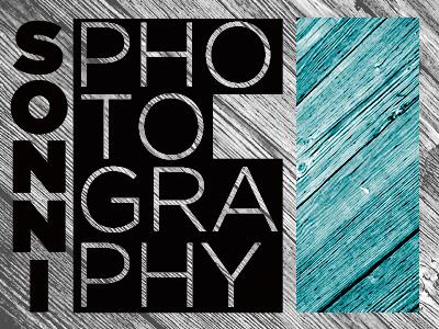 Sonni Photography Logo logo photography wood grain geometry