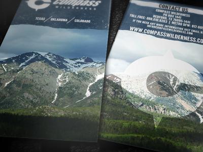 Compass Wilderness Brochure brochure print design graphic design