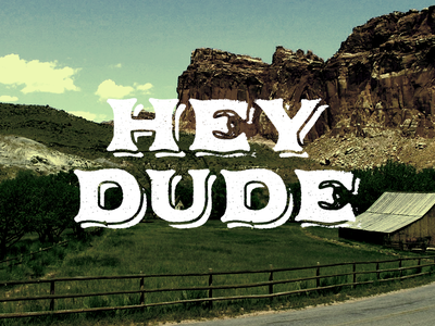Rebrand of Nickelodeon 90's Show Hey Dude logo vintage farm
