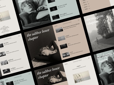 Folklore — Taylor Swift Website Concept serif classic brutalist design minimal uiux ux designer web animation adobe xd black and white ui designer website minimalist brutalist website design folklore vintage ui design web designer web design taylor swift
