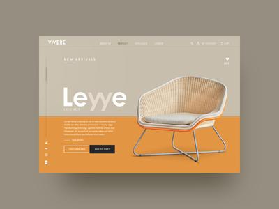 web design VIVERE Leyye Lounge Chaire