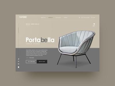 web design VIVERE Portabella Lounge Chaire