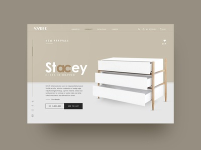 web design VIVERE Stacey Chest of Drawer