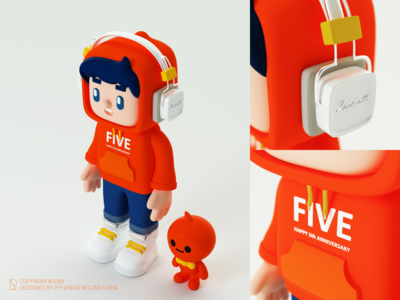 Hoodie doll-Working in Alibaba for the 5th year