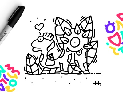 DINODINGO 🦕 illustration drawing black and white doodle character affinity designer character design dinosaurus dinos animals animal dinosaurs dinosaur dino