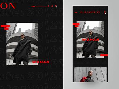 BAT NORTON branding webdesign web fashion brand desktop black fashion app app design mobile design uidesign uiux ux ui