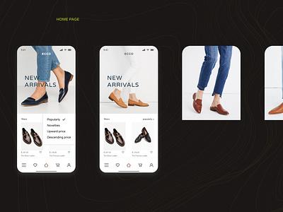 ECCO ecco app design design branding app ux uiux uidesign ui mobile