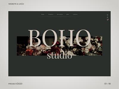 BOHO webdesign ux uiux ui uidesign design