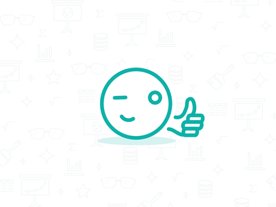 Good luck, we're counting on you mode thumbsup sql illo illustration