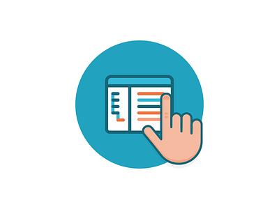 Data At Your Fingertips analytics mode fingertips data illo illustration