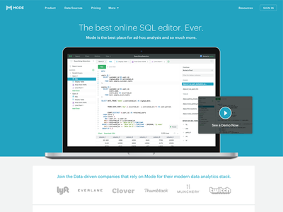 Multi-Query Editor Landing Page web landing page sql analytics mode