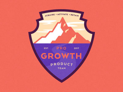 Product Team Badge illustration national park mountain badge