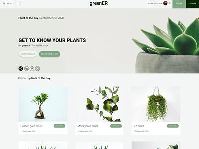 HomePage for greenER website web homepage design homepage homepagedesign design ux ui figma