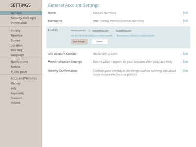 DailyUI #7 (Settings) settings ui settings dailyui007 website web ux ui design dailyuichallenge
