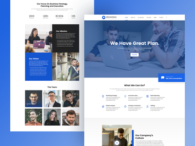 Business Consultation Theme ux ui webdesign advisor theme consulting business