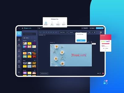 Shape Walls - A Wallpaper Creator Tool layout design illustration wallpaper app user interface agileinfoways ux design uxdesign
