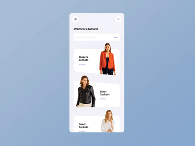 Fashion Clothes App Interaction ui  ux mobile ui microinteraction mobileapp animation cart clothes interactive ecommerce jacket interaction