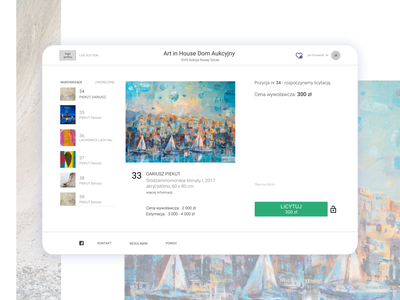 The Web App for live art auction web design ui ux website design webdesign art