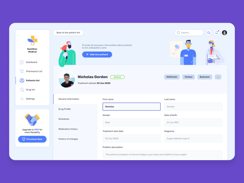 The medical app for patient treatment process treatment pharmacist pharmacy pills medicine storytale.io healthcare healthy doctor medical patient app