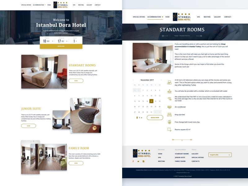 9ab13349dbc3 Web site design for hotel horeca hotel services stroke icons calendar  parallax gradient web site booking