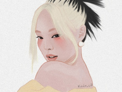 Jennie (How You Like That) illustration fanart illustrator portrait portrait art face fanart digitalart portrait illustration blackpink photoshop portait