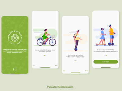 Renting Bike App 01 ui ux app onboarding splash