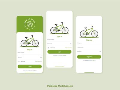 Renting Bike App 02 ui ux app signin signup