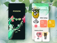 Cocktail recipe finder Concept app phone app mobile cocktails colors mobile ui app app design illustration mobile app design ux ui appdesigner mobile app