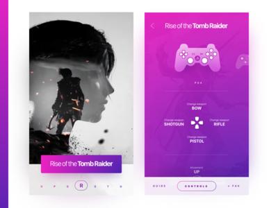 iOS app design for a game-companion concept.WIP